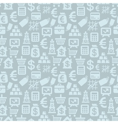 seamless pattern with finance icons vector image vector image