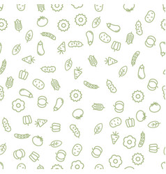 simple vegetables icon seamless pattern vector image