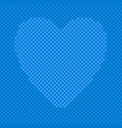 blue heart shaped background from hearts - vector image vector image