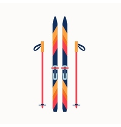 Colorfu sport winter ski vector image