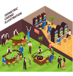 isometric casino vector image vector image