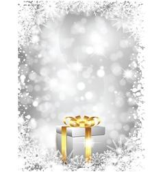 luxury christmas gift vector image vector image