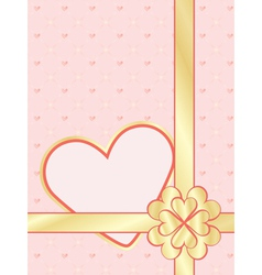 Valentines Day present wrapper vector image