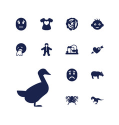 13 cute icons vector