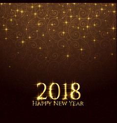 2018 shiny glitter sparkles new year background vector image