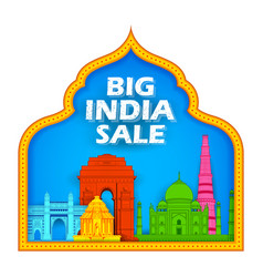 26th january happy republic day of india sale vector