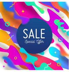 abstract background with multicolored shape vector image
