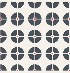 abstract seamless pattern of circles divided into vector image