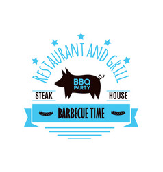 bbq grill meat barbecue restaurant party at home vector image