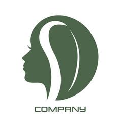 Beauty woman logo vector