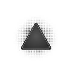 black abstract triangle frame halftone dots logo vector image