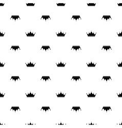 Black crown on white background vector