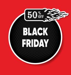 Black friday discount round banner vector