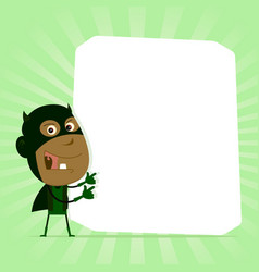 black kid super hero sign vector image
