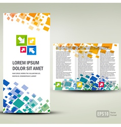 Brochure Tri-fold Layout Design Template geometric vector