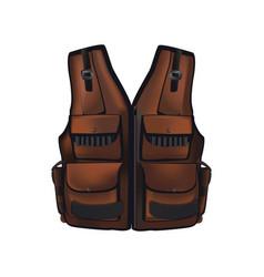Brown hunter vest vector