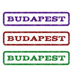 Budapest watermark stamp vector