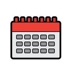 calendar blank icon image vector image