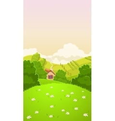Cartoon nature country landscape vector