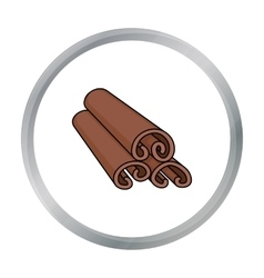 Cinnamon icon in cartoon style isolated on white vector