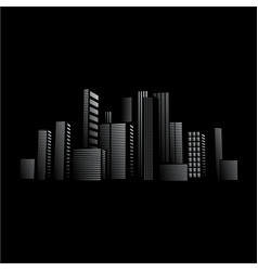 City lights design in front of black background vector