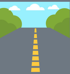 Colorful flat design empty road vector