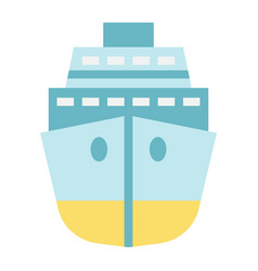 Cruise flat icon travel and tourism vector