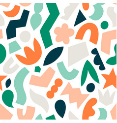 Cut and stick fun abstract shapes seamless vector