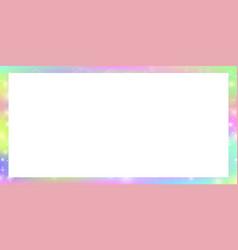 cute universe banner in princess unicorn colors vector image
