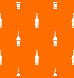 design bottle pattern seamless vector image
