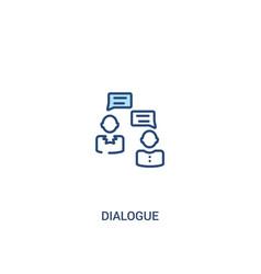 Dialogue concept 2 colored icon simple line vector