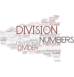 Division word cloud concept vector