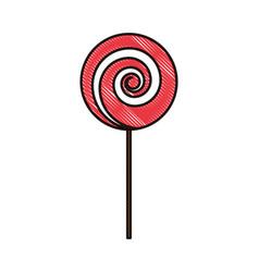 doodle tasty sweet candy dessert snack vector image