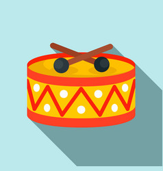 Drums toy icon flat style vector