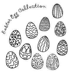 easter egg collection image vector image