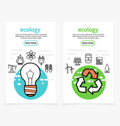 ecology and energy vertical banners vector image