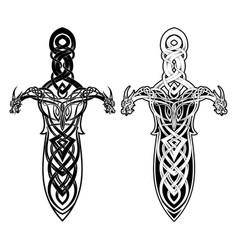 Fantasy sword 0020 vector