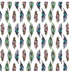 Feathers color wallpaper vector