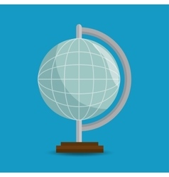 Globe eart education online blue background vector