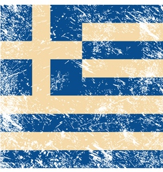 Greece flag retro vector