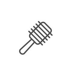 hairbrush line icon vector image