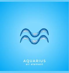 hand drawn aquarius zodiac sign vector image