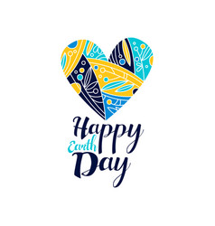 happy earth day logo creative template for vector image