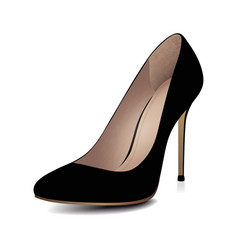 High Heels Black Shoe vector image