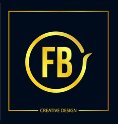 Initial fb letter logo template design vector
