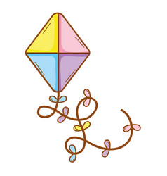 kite cute drawing vector image
