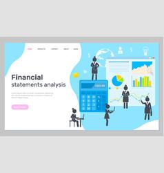 Landing page business website financial vector