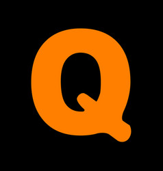 letter q sign design template element orange icon vector image