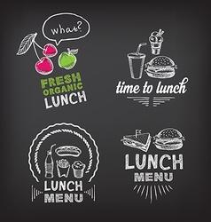 Lunch menu restaurant design vector image
