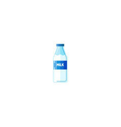 milk bottle isolated bottle of milk vector image